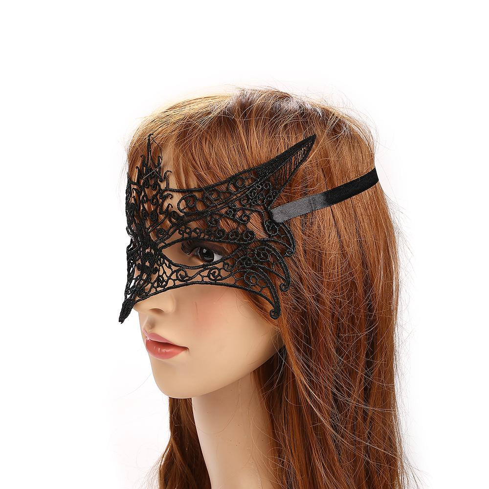 Party Games Ladies Bondage Eye Mask Black Lace Face Mask Lace Fabric