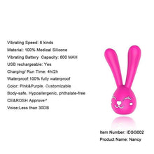 6 Frequency - Rabbit Clitoris and Nipple Vibrator - Vibrator - Sexy Bee UK