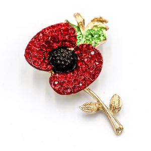 Stunning Bright Red Crystal Poppy Brooch - Health & Beauty - www.fastdeals.co.uk
