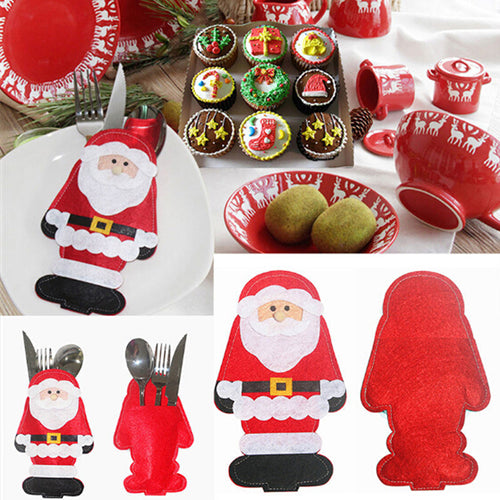 2 Pack Santa Tableware Cover