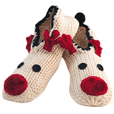 Reindeer Christmas Slippers -  - www.fastdeals.co.uk
