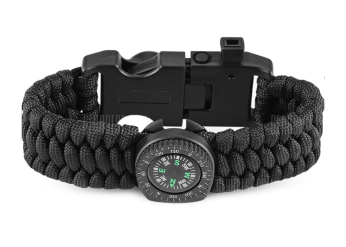 Survival Band - Outdoor Multifunctional Paracord Bracelet with Compass - Health & Beauty - www.fastdeals.co.uk