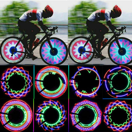 32 Pattern LED Bike Wheel Light - Home & Garden - www.fastdeals.co.uk
