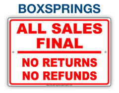 CLOSEOUT BOXSPRING | FINAL SALE | AS-IS NO WARRANTY
