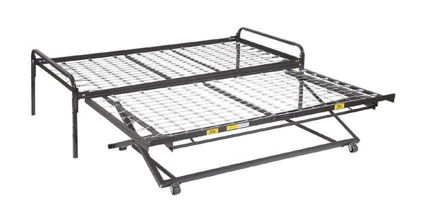 Pop Up Trundle Bed Frame Glideaway Half Price Mattress