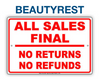 CLOSEOUT BEAUTYREST | FINAL SALE | AS-IS NO WARRANTY