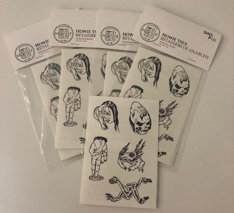 Howie Tsui: Retainers of Anarchy - Temporary Tattoos