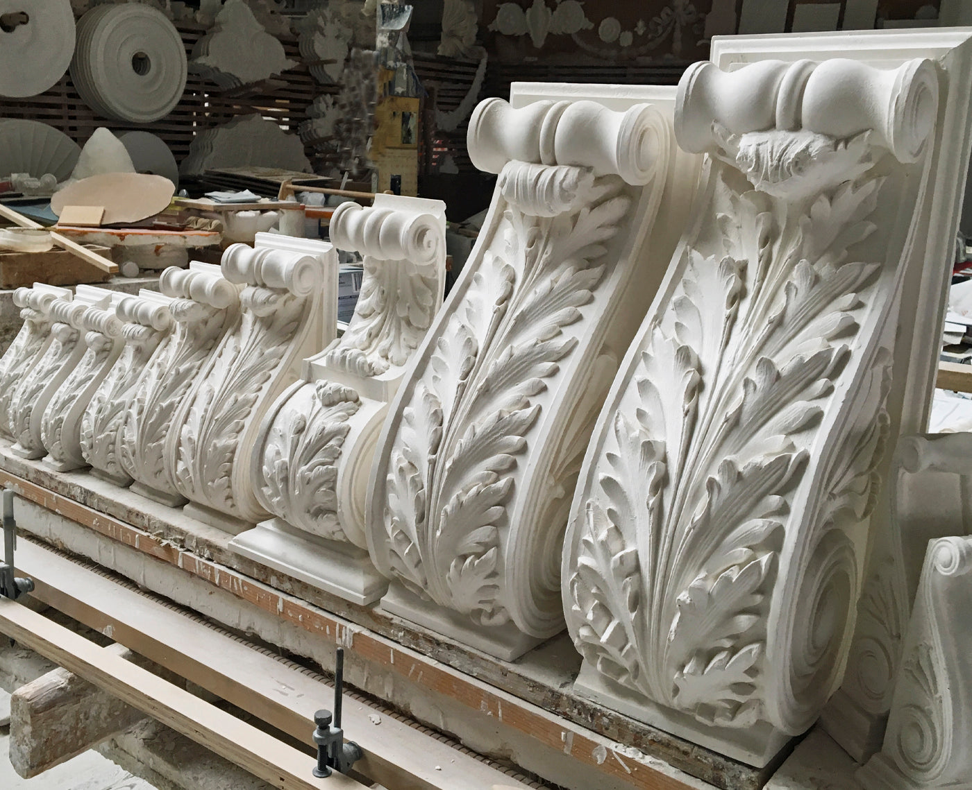Architectural And Decorative Corbels In A Variety Of