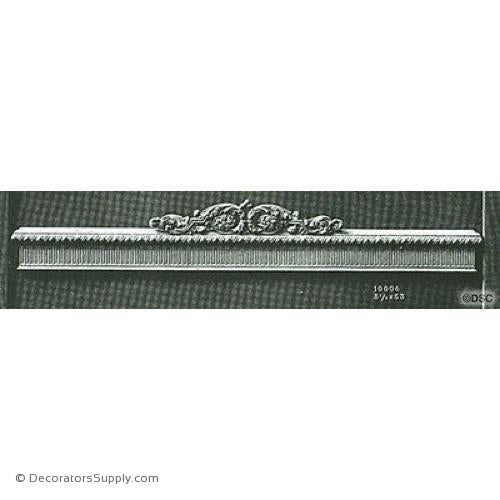 Valance -Louis XVI 5 1/8H X 53W - 9 1/4 2Relief-hand-built-custom-sizes-Decorators Supply