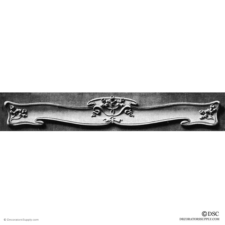 Valance - Art Nouveau 7 1/4H X 53 5/8W - 7 1/4-2Relief-hand-built-custom-sizes-Decorators Supply