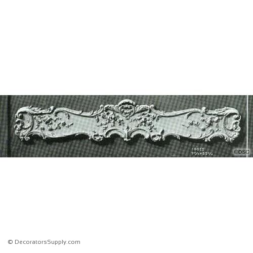 Valance -Louis XV 9 3/4H X 52 3/4W - 9 3/4-1 3/4 Relief-hand-built-custom-sizes-Decorators Supply