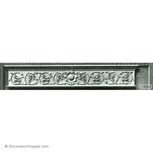 Valance -Italian Ren. 8H X 48W - 1/2Relief-hand-built-custom-sizes-Decorators Supply