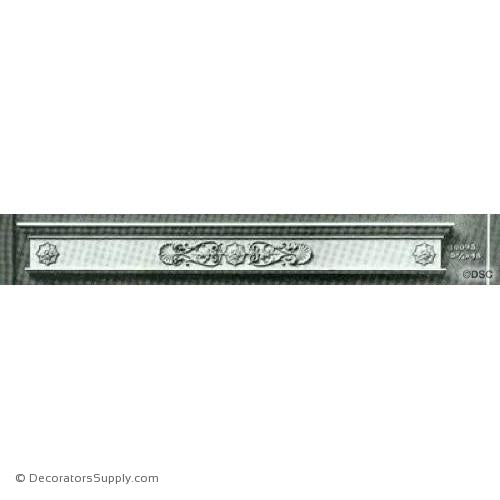 Valance -Italian Ren. 5 3/4H X 48W - 7/16Relief-hand-built-custom-sizes-Decorators Supply