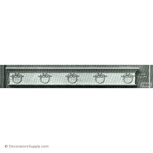 Valance -Empire 6 3/4H X 48W - 5/16Relief-hand-built-custom-sizes-Decorators Supply