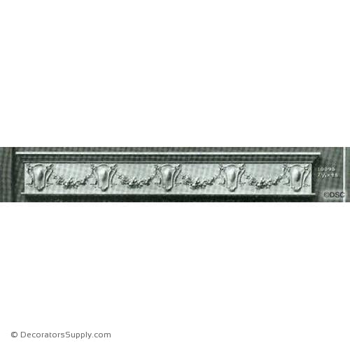 Valance -Italian Ren. 7 1/4H X 48W - 1/2Relief-hand-built-custom-sizes-Decorators Supply