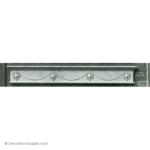 Valance -Colonial 6 3/4H X 48W - 5/16Relief-hand-built-custom-sizes-Decorators Supply