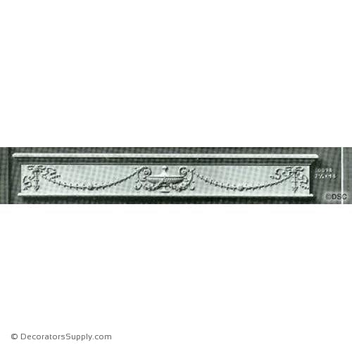 Valance -Louis XVI 7 1/4H X 48W - 3/4Relief-hand-built-custom-sizes-Decorators Supply