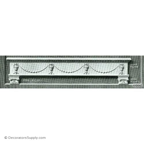 Valance -Colonial 7 1/4H X 48W - 5/8Relief-hand-built-custom-sizes-Decorators Supply