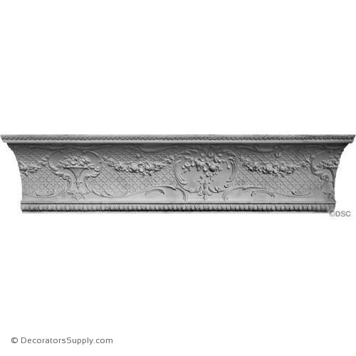 "Plaster Crown-Louis XV-9 1/4 Proj X 10"" Drop-42"" Repeat-Decorators Supply"