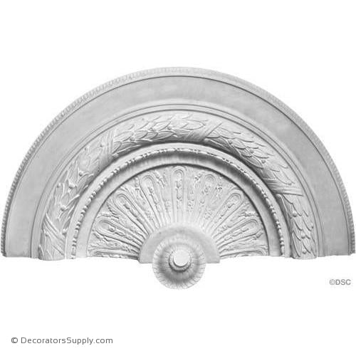 "Plaster Medallion 55"" Dia -Relief 9 1/4"" (5 1/2"" W/O Center)-ceiling-ornament-Decorators Supply"