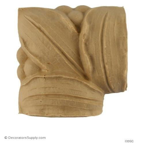 Corner Piece Matching 11006 -French 2H - 1Relief-moulding-for-woodwork-furniture-Decorators Supply