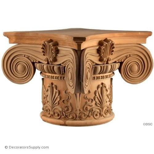 Stain Grade Wood Capital Round