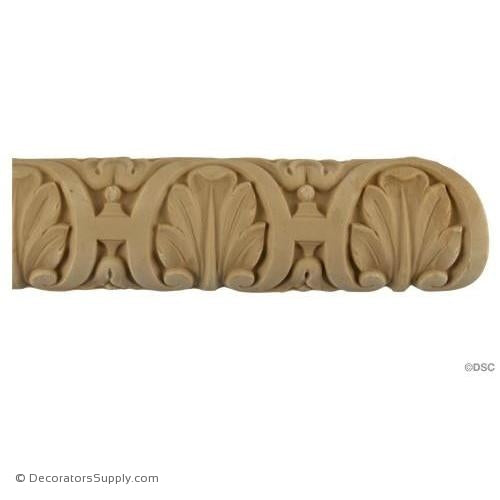 Shell Lineal - Fench 2H - 3/4Relief-woodwork-furniture-lineal-ornament-Decorators Supply