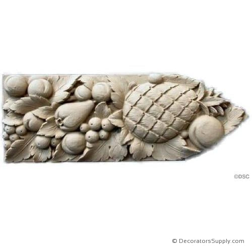 "Fruit Lineal - Italian 4H X 11"" Wide- 5/8Relief-moulding-for-furniture-woodwork-Decorators Supply"