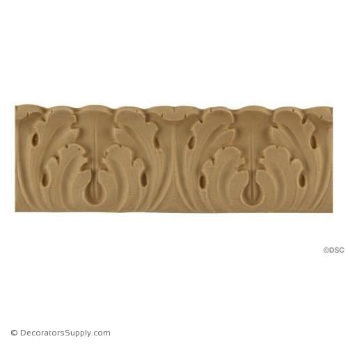 Acanthus Leaf - Italian 1 5/8H - 1/4Relief-woodwork-furniture-lineal-ornament-Decorators Supply