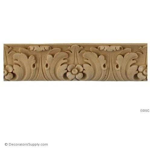 Acanthus Leaf - Ren. 2 1/4H - 5/8Relief-woodwork-furniture-lineal-ornament-Decorators Supply