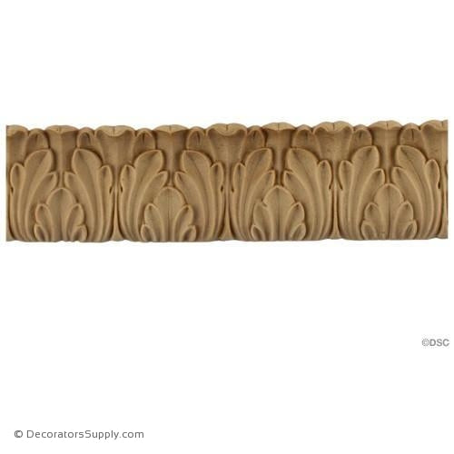Acanthus Leaf - Romanesque 1 3/4H - 3/8Relief-woodwork-furniture-lineal-ornament-Decorators Supply