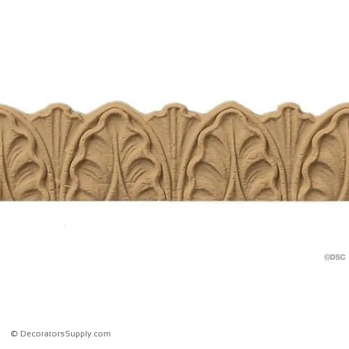 Palmette - Ren. 3/4H - 3/32Relief-woodwork-furniture-lineal-ornament-Decorators Supply