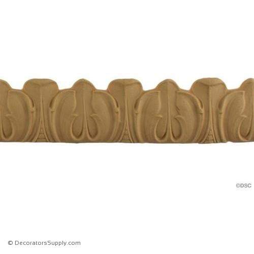 Acanthus Leaf - Ren. 1 5/8H - 5/16Relief-woodwork-furniture-lineal-ornament-Decorators Supply