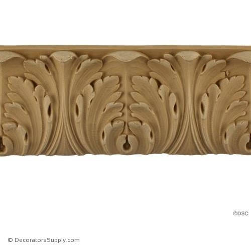 Acanthus Leaf - Ren. 2 7/8H - 3/4Relief-woodwork-furniture-lineal-ornament-Decorators Supply