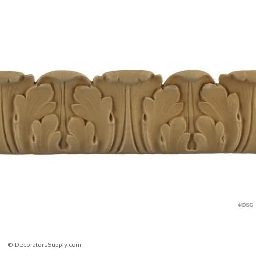 Acanthus Leaf - Ren. 2 5/8H - 3/4Relief-woodwork-furniture-lineal-ornament-Decorators Supply