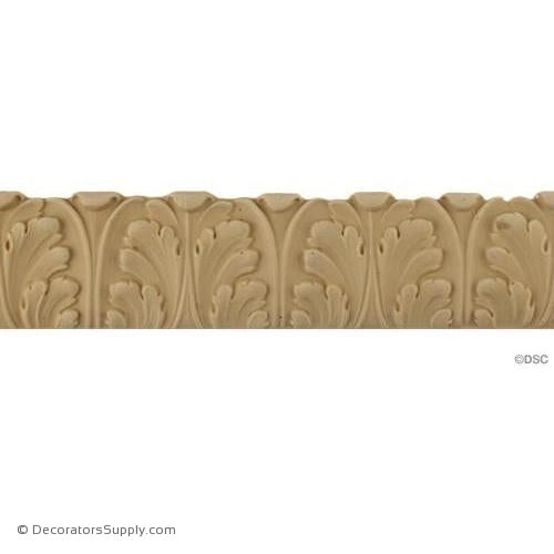 Acanthus Leaf - Ren. 2H - 1/4Relief-woodwork-furniture-lineal-ornament-Decorators Supply