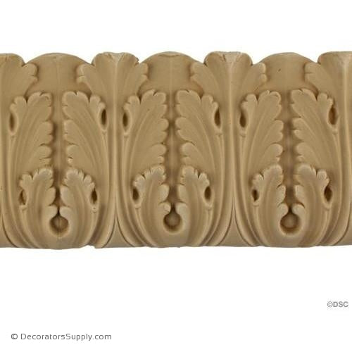 Acanthus Leaf - Ren. 3 3/8H - 3/8Relief-woodwork-furniture-lineal-ornament-Decorators Supply