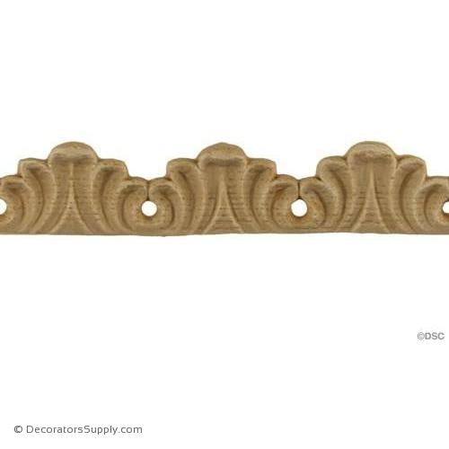 Acanthus Leaf - Romanesque 3/4H - 3/16Relief-woodwork-furniture-lineal-ornament-Decorators Supply