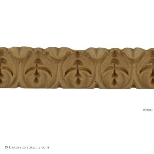 Acanthus Leaf - Ren. 1H - 5/16Relief-woodwork-furniture-lineal-ornament-Decorators Supply