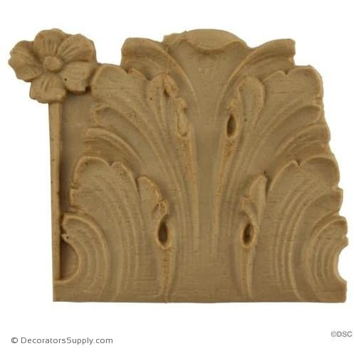 Acanthus Leaf - Ren. 2 1/8H - 3/16Relief-woodwork-furniture-lineal-ornament-Decorators Supply