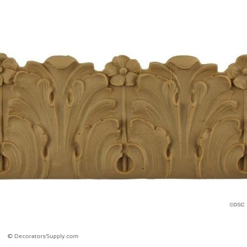 Acanthus Leaf - Ren. 2 1/2H - 1/4Relief-woodwork-furniture-lineal-ornament-Decorators Supply