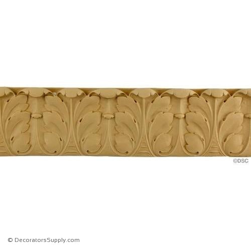 Acanthus Leaf - Ren. 3 3/8H - 1/2Relief-woodwork-furniture-lineal-ornament-Decorators Supply