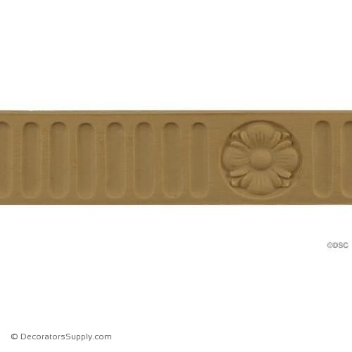 Fluted-Colonial 1 3/8H - 3/16Relief-moulding-for-furniture-woodwork-Decorators Supply