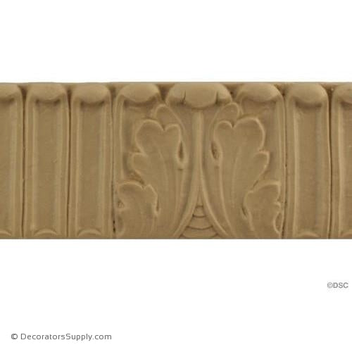Fluted-Colonial 2H - 5/16Relief-moulding-for-furniture-woodwork-Decorators Supply