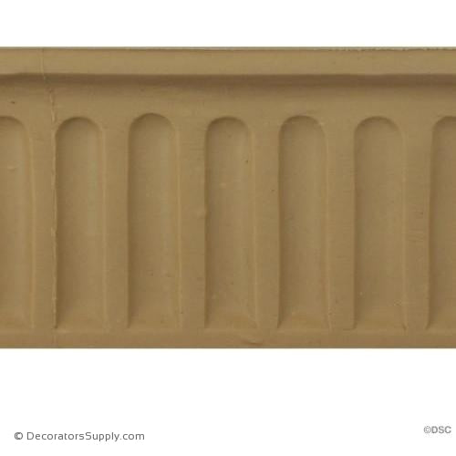 "Fluted-Colonial 2 1/2H - 5/8Relief - Cast length 12""-moulding-for-furniture-woodwork-Decorators Supply"