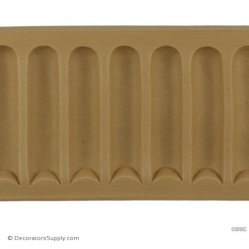 Fluted-Colonial 3 7/8H - 3/8Relief-moulding-for-furniture-woodwork-Decorators Supply
