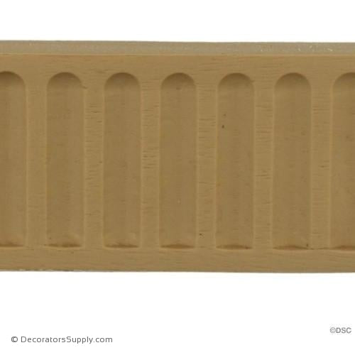 "Fluted-Colonial 1 3/4H - 1/4Relief - Cast Length 16""-moulding-for-furniture-woodwork-Decorators Supply"