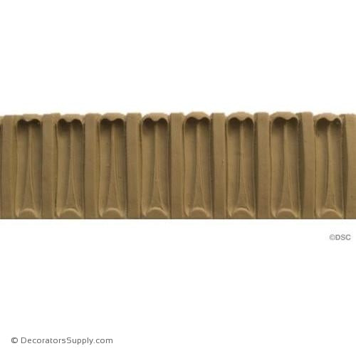 Lamb's Tongue - Modern 2 1/2H - 3/8Relief-woodwork-furniture-lineal-ornament-Decorators Supply