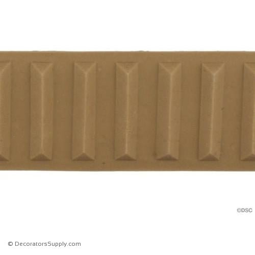 Fluted-Colonial 1 1/4H - 1/4Relief-moulding-for-furniture-woodwork-Decorators Supply