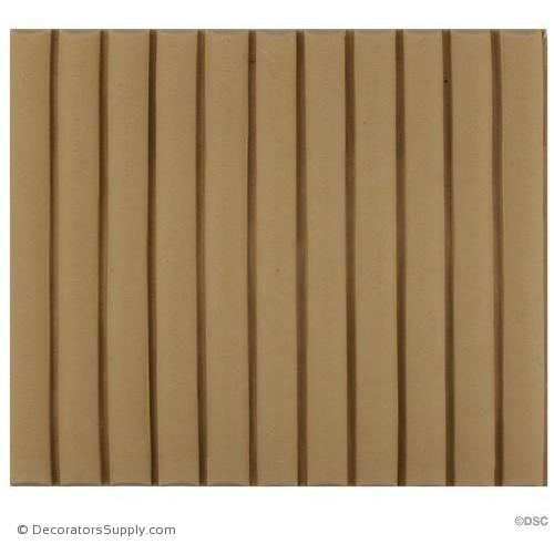 Reeded-Colonial 5 7/8H - 1/4Relief-moulding-for-furniture-woodwork-Decorators Supply